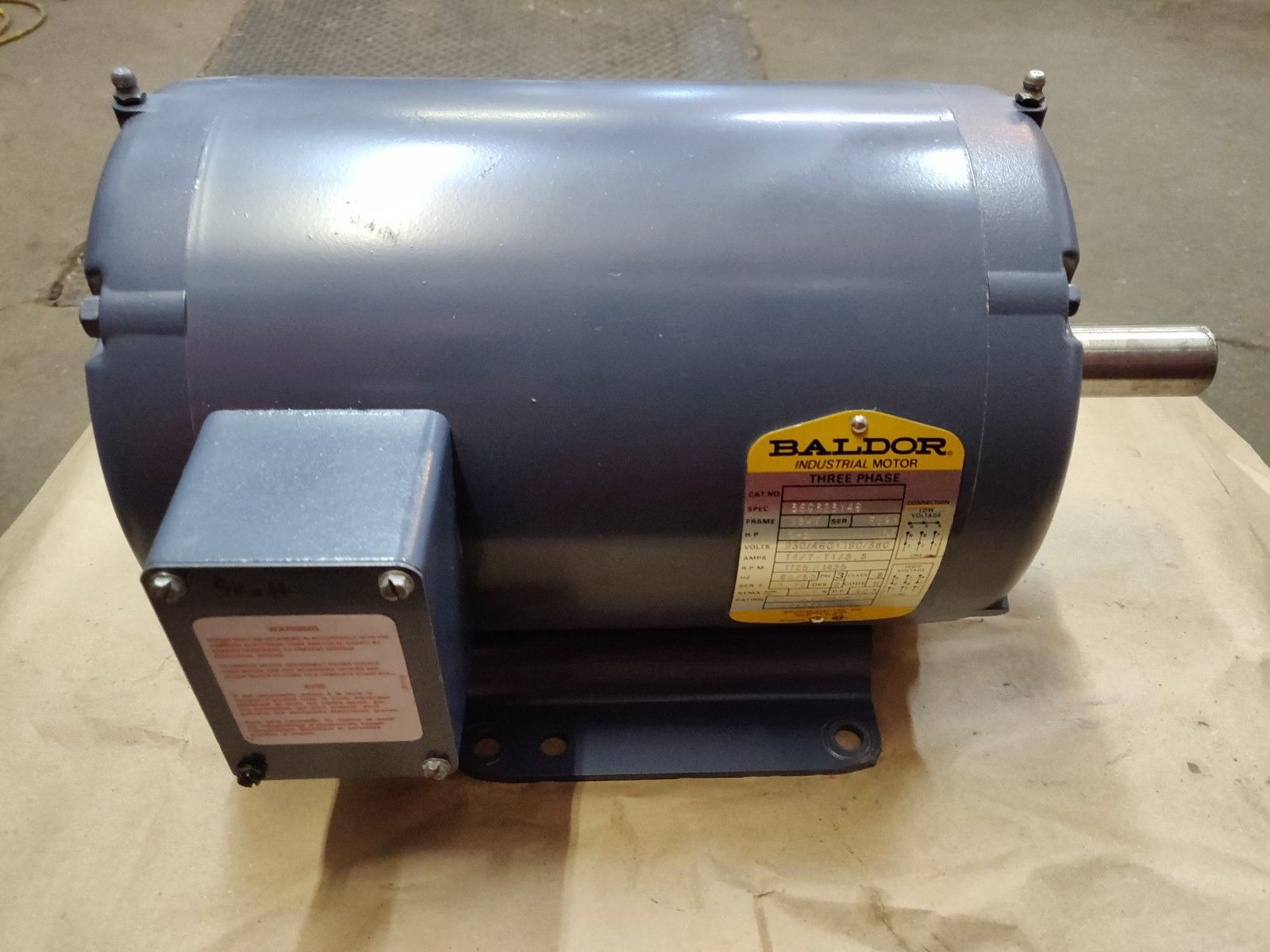 Baldor 3-Phase Industrial Motor Spec 36G323Y46 - Modified EM3218T