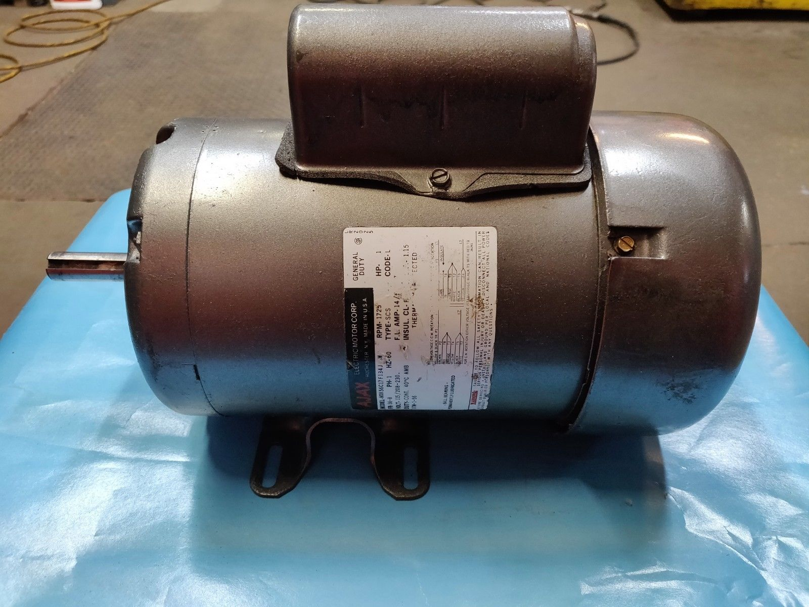 AJAX General Duty 1-Phase 1 HP Motor Model MXK56C17F134J