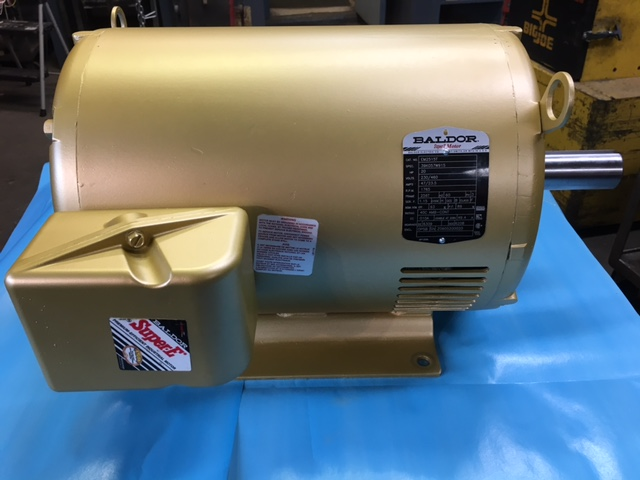 Baldor 20HP 3-Phase Motor 256T Frame 1765 RPM Cat No. EM2515T Spec 39K057W915